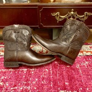 FINALPRICE Rare Frye Wyatt Overlay Antique Boot